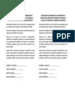 Declaración de Compromiso de Cumplimiento y Recepcion Del Reglamento Intern de Seguridad y Salud en El Trabajo