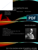 what speech impacts has hitler made