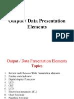Data or Output Presentation