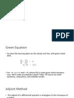 Greeen Equation