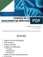Controle de Qualidade Na Replicação Do DNA