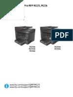 Manual para impresora HP m225 - 226 w