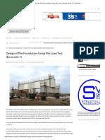 Design of Pile Foundation Using Pile Load Test (Eurocode 7) - Structville