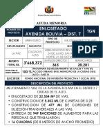 Enlosetado Avenida Bolivia Dist. 7