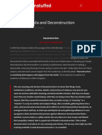 Jacques Derrida and Deconstruction   Art History Unstuffed