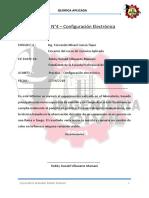 Informe QUIMICA N°4 Configuración electrónica