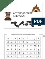 Actividades Atención Busca La Letra No Repetida Trabajamos La Estimulación Cognitiva