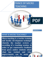 Importance of Microteaching