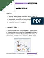 Informe de Destilacion