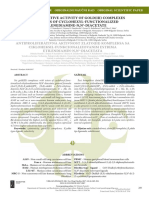Antiproliferative Activity of Gold(III) Complexes With Esters of Cyclohexyl-Functionalized Ethylenediamine-NN-Diacetate