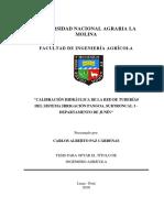 Calibración Hidráulica de La Red de Tuberías