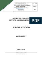 Informe Rendición Vigencia 2.017