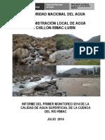 Informe Final Primer Monitoreo Rimac 2014 (1)