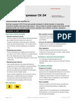 Gas Compressor Oil S4 PN 220 (en-GB) TDS