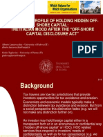 "THE ETHICAL PROFILE OF HOLDING HIDDEN OFF-SHORE CAPITAL:THE ITALIAN MOOD AFTER THE ""OFF-SHORE CAPITAL DISCLOSURE ACT"""