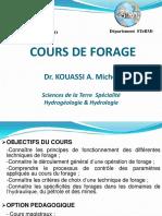 Cours de Forage Par Dr AMANI MICHEL
