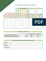 Hoja de Resumen y Análisis de Datos EVALÚA