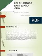 Ejercicios Metodo Explicito en Estado Transitorio