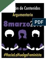 ARGUMENTARIO HUELGA FEMINISTA 8M