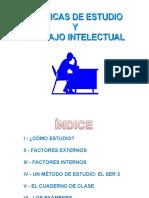 Técnicas de Estudio y Trabajo Intelectual