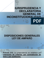 Jurisprudencia y Declaratoria General de Inconstitucionalidad