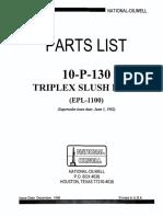 Lista de Partes de La Bomba Triplex