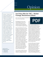 Iran Policy After the NIE? Modest Findings, Revolutionary Effects