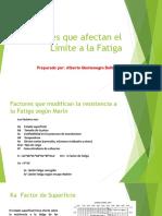 Factores Que Afecta La Resistencia a La Fatiga
