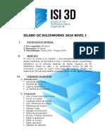 1 Silabo de Solidworks Basico