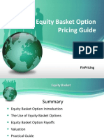 Explaining Equity Basket Option Definition and Valuation