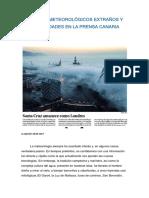 Eventos Curiosos Meteorología y La Prensa en Canarias