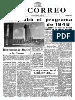 Diario El Correo de La UNESCO de 1948 Con Maritain