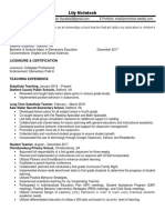 lily mcintosh resume 2018