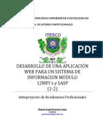 Formato Para Anteproyecto Rp Miguel