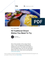 10 Traditional Omani Dishes