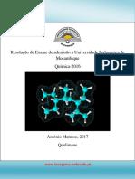 Resolução de Exame de Quimica UP 2016