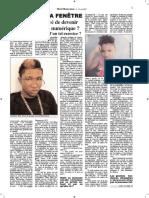 Michelle Mevs, Son 2ième Article Sur La Jeunesse Haïtienne, Paru Dans H-O