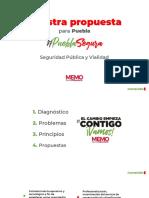Puebla Segura, propuestas de PRI