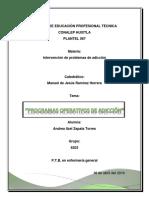 programas operativos de adicción