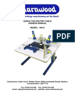 User Manual - Charnwood Router Table W012
