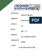 FIHR- N Airovi María - Trabajo