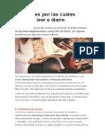 10 Razones Por Las Cuales Deberías Leer a Diario