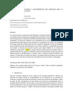 Los Roles Del Empleador y Características Del Empleado Para La Productividad de La Planta