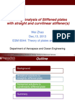 Buckling Analysis of Stiffened Plates With Straight and Curvilinear Stiffener(s)
