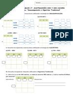 Guía Sustracción Descomposicion y Algoritmo Cuarto
