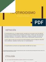 Hipotiroidismo en El Adulto