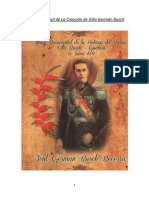 Historia Esencial de La Creación de Villa Busch-Guabirá