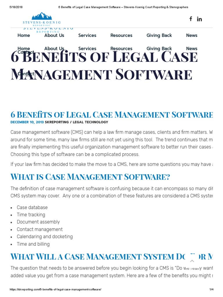 court case management software