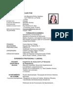 Curriculum Vitae Monserrat Peña