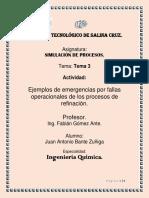 EJEMPLOS DE EMERGENCIAS POR FALLAS OPERACIONALES DE LOS PROCESOS DE REFINACION..docx